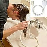 mxjeeio Weißer tragbarer HahnDuschkopfabflussfilter-Schlauch-Waschbecken waschen Haardusche