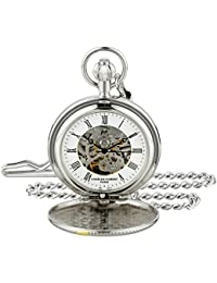 Charles-Hubert 2C Paris Charles-Hubert, Paris 3995 Classic Collection Analog Display Mechanical Hand Wind Pocket Watch