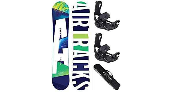 Chaussures DE Snowboard+SB Sac//Neuf AIRTRACKS Snowboard Set//Pack Planche Aero Zero Rocker Fixations Master FASTEC