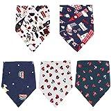 Bandana per Cani 5 Pezzi Animale Domestico Lavabile Sciarpa a Triangolo Modello BelloAccessori Abbigliamento con Cinturino per le Piccole Medie Cani di Taglia Grande