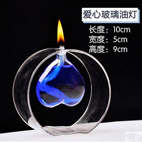 Kreative Kerzenhalter,Öllampe Geschenk Kerzen Rauchlose Glas klar Kerzenhalter Haushalt Dekoration Heiraten Besondere geschenke-C