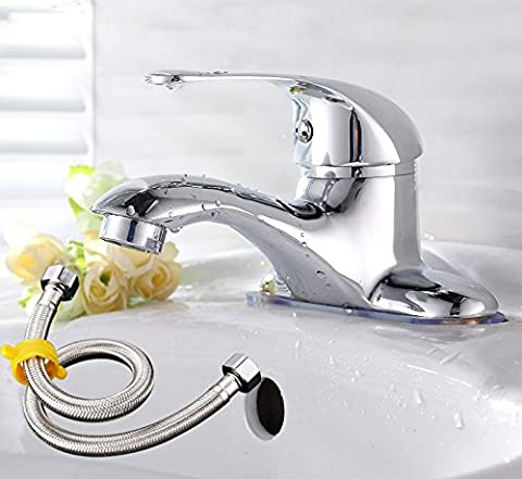 basin Taps Single-lever hot and cold double-hole basin faucet Kitchen Basin Mixer Classic double-hole platform basin mixer,Hot and cold faucet does not contain