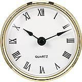 3-1/ 8 Zoll (80 mm) Quarzuhr Fit-up/ Insert mit Goldrand und Römische Ziffer, Quarzwerk (Gold Rim)