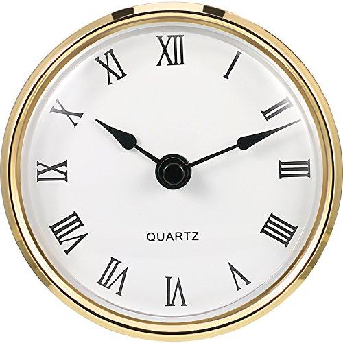 3-1/8 Zoll (80 mm) Quarzuhr Fit-up/Insert mit Goldrand und Römische Ziffer, Quarzwerk (Gold Rim) -