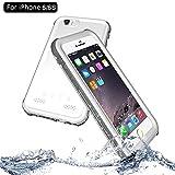 NewTsie iPhone 6 / iPhone 6s Wasserdicht Stoßfest Hülle, IP68 Zertifiziert Schutzhülle Staubdicht mit Eingebautem Displayschutzfolie für Apple iPhone 6/6s 4.7 inch (P-Weiß)