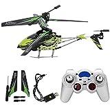 Elicottero telecomandato 2.4GHz 3.5CH Aeroplano del telecomando Mini elicottero RC in lega per bambini e adulti, facile da volare per principianti(verde)