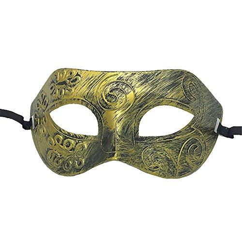age römischen Gladiator Maskerade Maske Jazz Party Männer und Frauen Maske Augenmaske, Gold ()