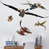 Bilderwelten Wandtattoo Dragons Drachenset, Sticker Wandtattoos Wandsticker  Wandbild, Größe: 20cm X 40cm
