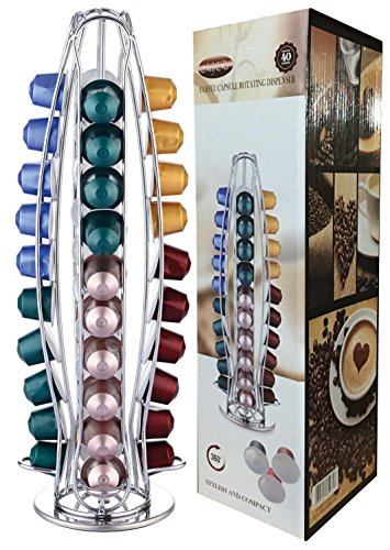 Buy TOWER 40 Nespresso Coffee Capsule Pod Holder (4. Rotating Design) by EVER RICH