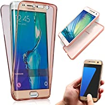 Samsung Galaxy Note 3 Dual Case Cover, Vandot 360 Grados Smart Case Funda Carcasa de Silicona TPU Doble Frontal y Trasera Full Body Protector Ultra Thin Fina Funda Protectora Transparente para Samsung Galaxy Note 3 N9000 N9005 - Rosa Rosado