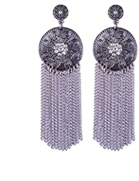 BAAL Silver Dangle And Drop Earrings For Women