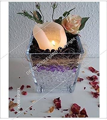 20 Tüten * BLAU * einfarbige Wasserperlen (MEGA 1,4-2 cm) von Deco-Boulevard - Ideale Sommerdeko, Winterdeko, Weihnachtsdeko und zu jedem Anlass! Dekoration zu Weihnachten, Blumen, Kerzen, Teelichter; Nutzbar als Eventdeko, Partydeko, Hochzeiten, Cocktai