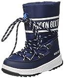 Moon-boot JR Boy Sport WP, Stivali da Neve Bambino, (Blu 002), 34 EU