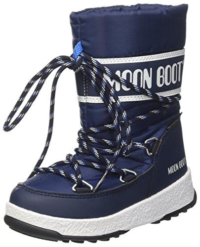 Moon Boot Unisex-Kinder We Sport Jr Wp Schneestiefel, (Blu Navy/Bianco), 36 EU