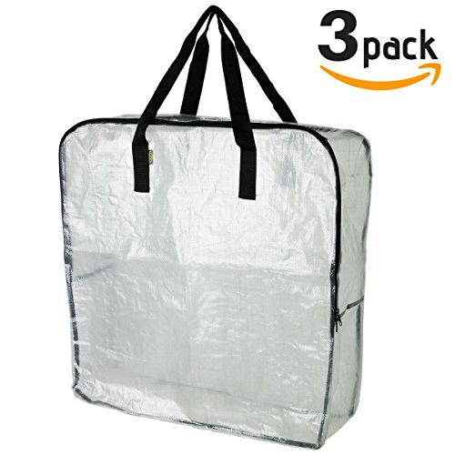 bad8616e95d IKEA DIMPA 3 Bolsas de Almacenamiento extragrandes, Bolsas de  Almacenamiento Transparentes, Resistentes,.