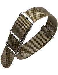 Correa de reloj de Nylon balístico de la OTAN estilo resistente al agua reloj bandas pulsera THhdG