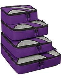 4 Piezas Bolsa de almacenamiento Maleta Caja de almacenamiento de viaje incluso Bolsa de lavandería