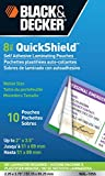 Black and Decker QuickShield Self-Adhesive Wallet Size Laminating Pouches, 8-mil, 10 Pack (WAL-10SS)