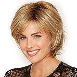 Aiming Fluffy Courte Perruque Blonde synthétique bouclés Perruque de Cheveux Courts Beaucoup de Couleurs Choisir