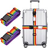 """2x Luggage Strap, Adjustable 78"""" Long Travel Packing Belt Suitcase Baggage Security Straps"""