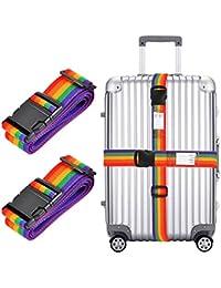 2x correa de equipaje, regulable de 78cm de largo cinturón de embalaje de viaje equipaje maleta seguridad correas