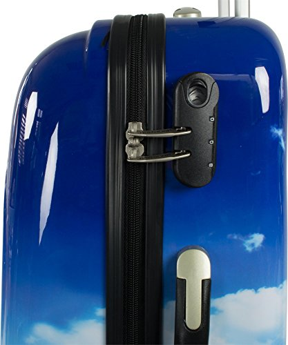 Polycarbonat ABS Hartschalen Kofferset mit Motiv 2-tlg. Lavendel