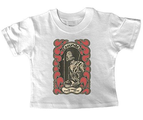 Preisvergleich Produktbild Jimi Hendrix Sounds Baby T Shirt für 2–3Jahre alt
