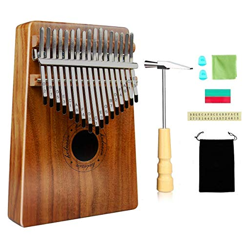 Kalimba 17 Schlüssel, Daumenklavier Kalimba Thumb Piano Finger Solide Kalimba Instrument (Piano-instrument)