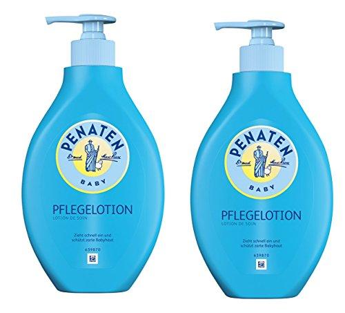 Entspannen Sie Körper Creme (Penaten Pflege Lotion 400ml, Feuchtigkeitsspendende Körperlotion für die tägliche Pflege empfindlicher Babyhaut ,2 x 400 ml)