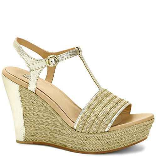 UGG AUSTRALIA Fitchie cuir + textile Femme Gold Oro-Cord