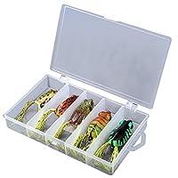 * SODIAL est une marque deposee. SEULEMENT le vendeur autorise de SODIAL peut vendre les produits de SODIAL. Nos produits vont ameliorer votre experience et vous donner une inspiration incroyable. SODIAL (R) Frog Lure Bass Fishing Crochets Bait T...