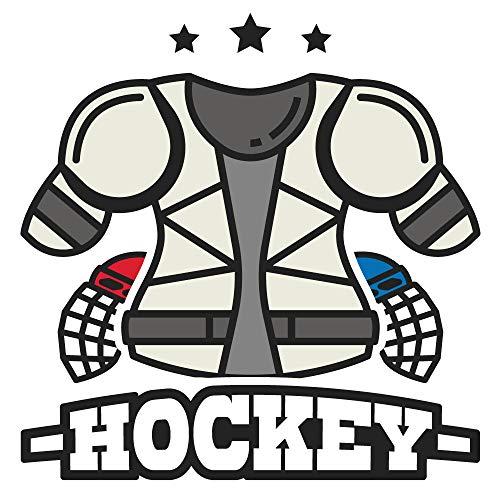 dekodino® Wandtattoo Eishockey Trikot Ausrüstung Jugendzimmer Sport Teenager -