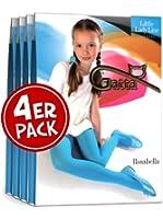 4er Pack: Gatta robuste und elegante Kinderstrumpfhose ROSABELLA 60 den