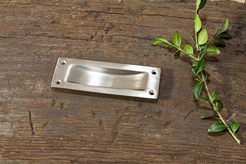 Antikas - Griffmuschel Nickel matt gebürstet, Griffmulde Schiebetür klassischer Türbeschlag