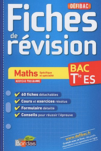 DEFIBAC FICHES MATHS TERM ES