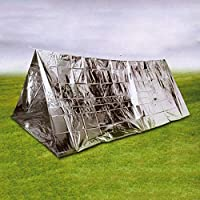 SmashingDealsDirect 2 Person Tube Survival Emergency Foil Tent Camping Shelter Sporting Outdoor