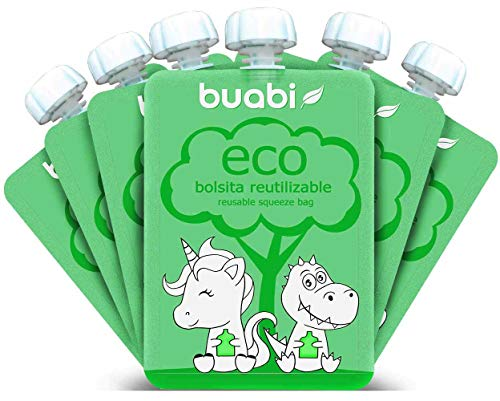 Buabi bolsitas reutilizables comida bebe - Pack 6