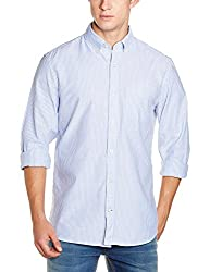 GAP Mens Casual Shirt (140717800033_17826998900_Large_Blue Allure)