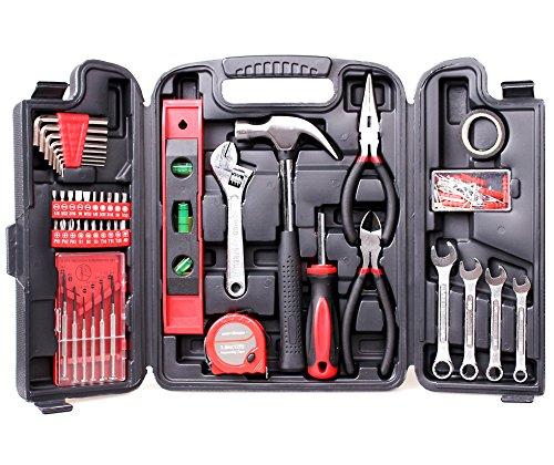 Cartman Multi Haushalts-Werkzeugkoffer 136-Teilige Werkzeugset DIY Reparatur Werkzeuge Kits Set
