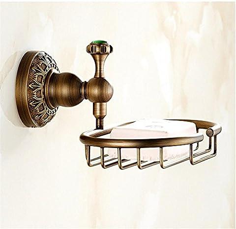 Muzyo bronze Antique moderne finition panier savon laiton / savon à vaisselle/titulaire / accessoires
