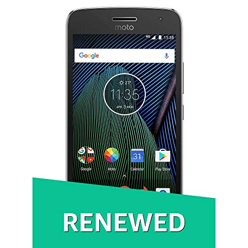 (Certified REFURBISHED) Moto G5 Plus XT1686 (Lunar Grey, 32GB) Smartphones at amazon