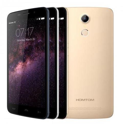 Nuovi rilasciato HOMTOM HT17 Android 6.0 Smartphone 4G 5.5 pollici HD riconoscimento delle impronte digitali a 64 bit MTK6737 Quad Core 7,9 millimetri di spessore (oro)