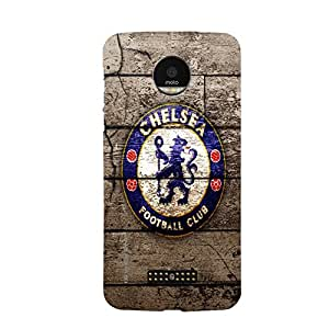 iSweven MotoZ_1289 Printed high Quality Chelsea_Football_club_logo Design Back case cover for Motorola Moto Z