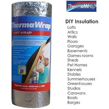 Thermawrap 400mm X 5m X 37mm Loft Wrap Easy Install Bubble Foil