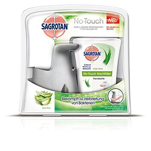 sagrotan-no-touch-automatischer-seifenspender-starter-set-aloe-vera-silber-1er-pack-1-x-250-g