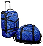 Reiseset Trolley-Set 2tlg Colorado, Nylon, blau kariert