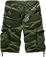 Men's Summer Retro Casual Cargo Shorts Multi Pockets