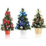 Xinxu Mini-Weihnachtsbaum, 3 Stück, künstlich verschneiten Weihnachtsbaum, Weihnachtsdekoration, Tischdekoration, kleine Party-Ornamente, Weihnachtsfeier, Geschenk