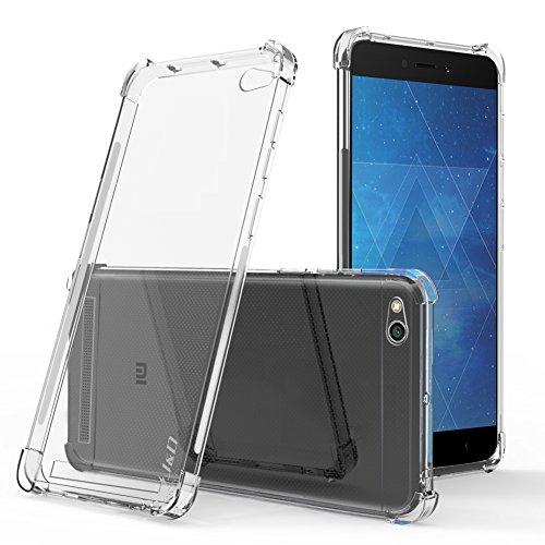 J & D Xiaomi Redmi 4A Hülle, [Eckpolster] [Leichtgewichtig] [Ultra-Durchsichtig] Stoßfest Schützend Dünn Silikon Stoßschutzhülle für Xiaomi Redmi 4A - Transparent