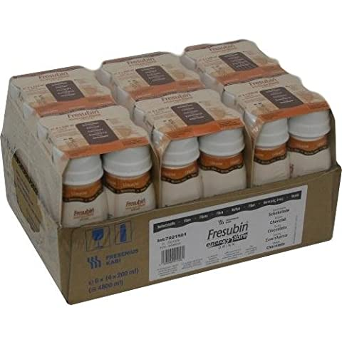 Fresenius Kabi Fresubin Energy Fibre Drink Schokolade Trinkflasche, 6 x 4 x 200 ml, 1er Pack (1 x 5,5